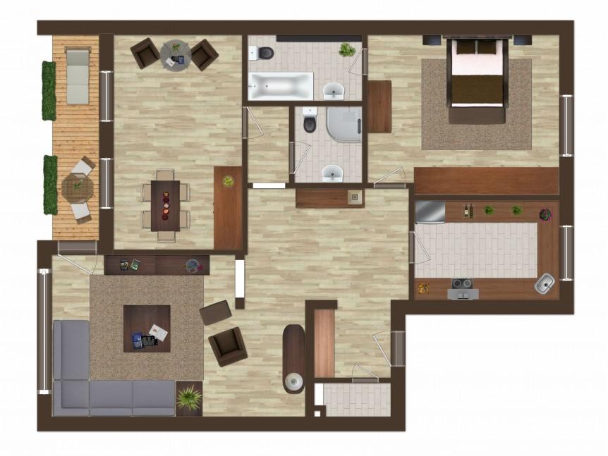 Grundriss 3-Zimmer-Wohnung 215009 Glinde Thonhauser Immobilien GmbH